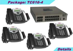 KSU (6 external lines and 16 stations) with 4 TC-125-K speaker phones, caller ID, 8-hours voice mail, 5 years KSU warranty.